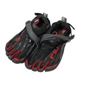 File Skele-toes Black Red Athletic Water Shoes 9 M